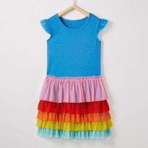Hanna Andersson Rainbow Flutter Dress Sz 8